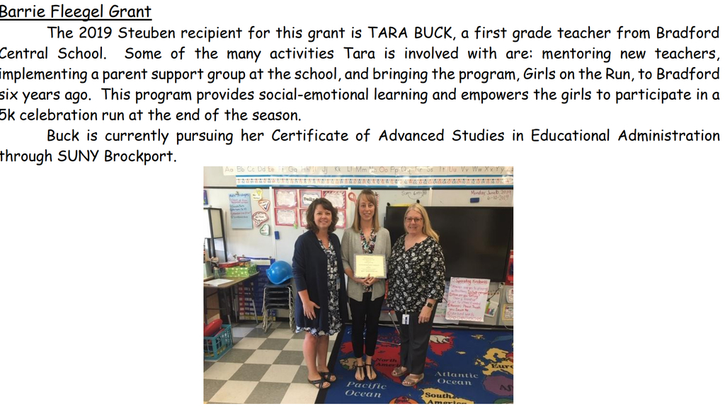 Congratulations Mrs. Simons (Buck). BCS is proud of you.
