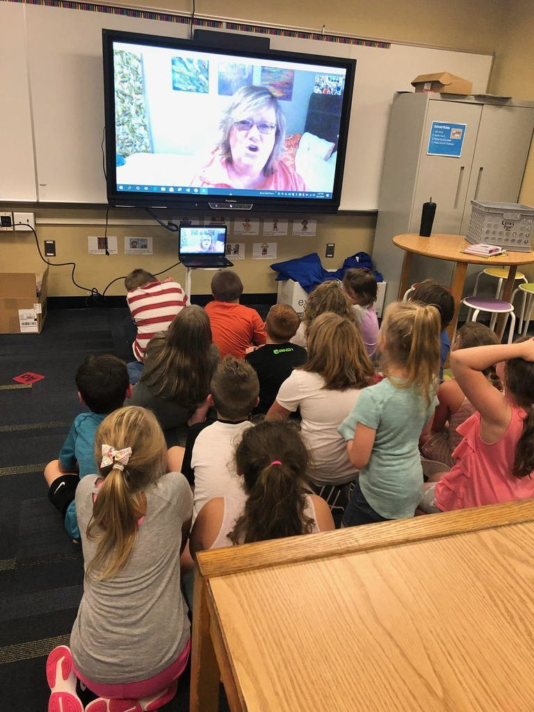 2nd Graders SKYPE with author