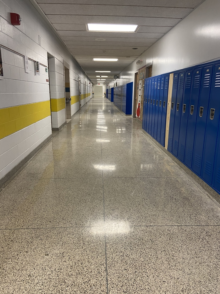 New lockers and halls painted