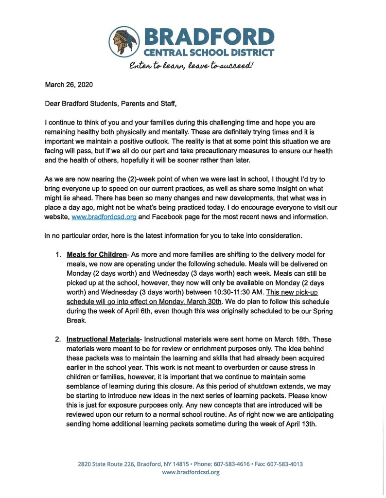 COVID-19 Update March 26, 2020 Pg 1